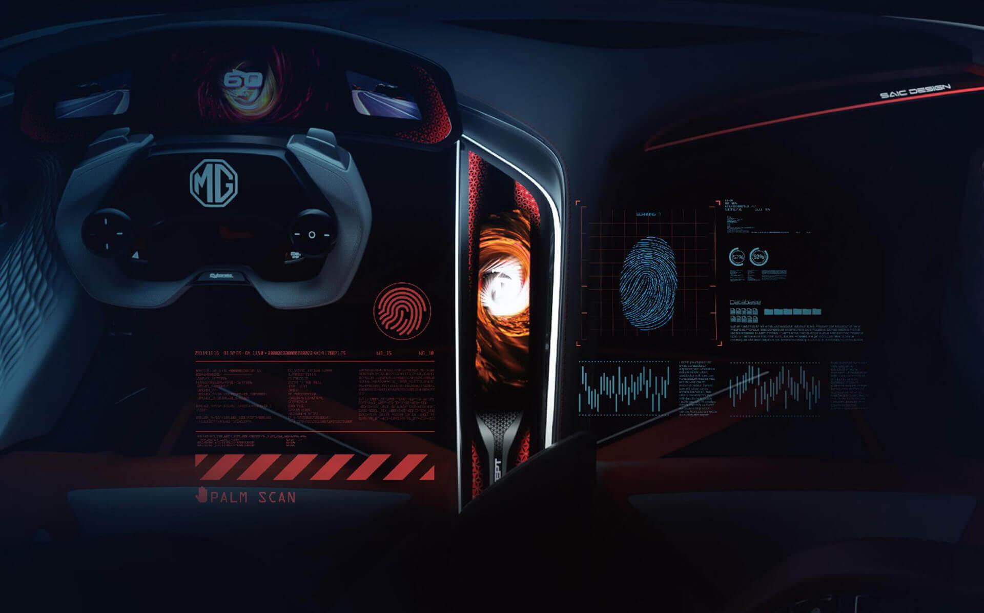 Интерьер MG Cyberster