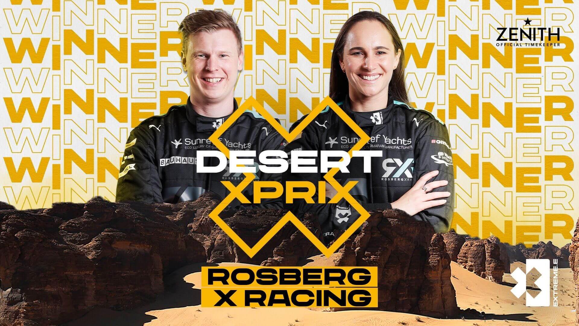 Команда Нико Росберга (RXR) выиграла первую гонку Extreme E в Саудовской Аравии