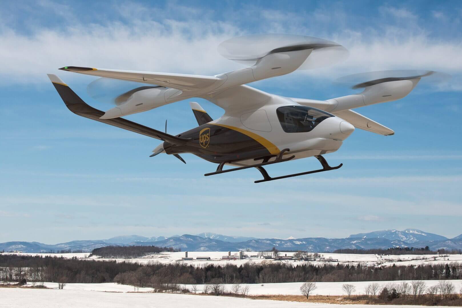 UPS заказала 10 электрических самолетов с вертикальным взлетом и посадкой у BETA