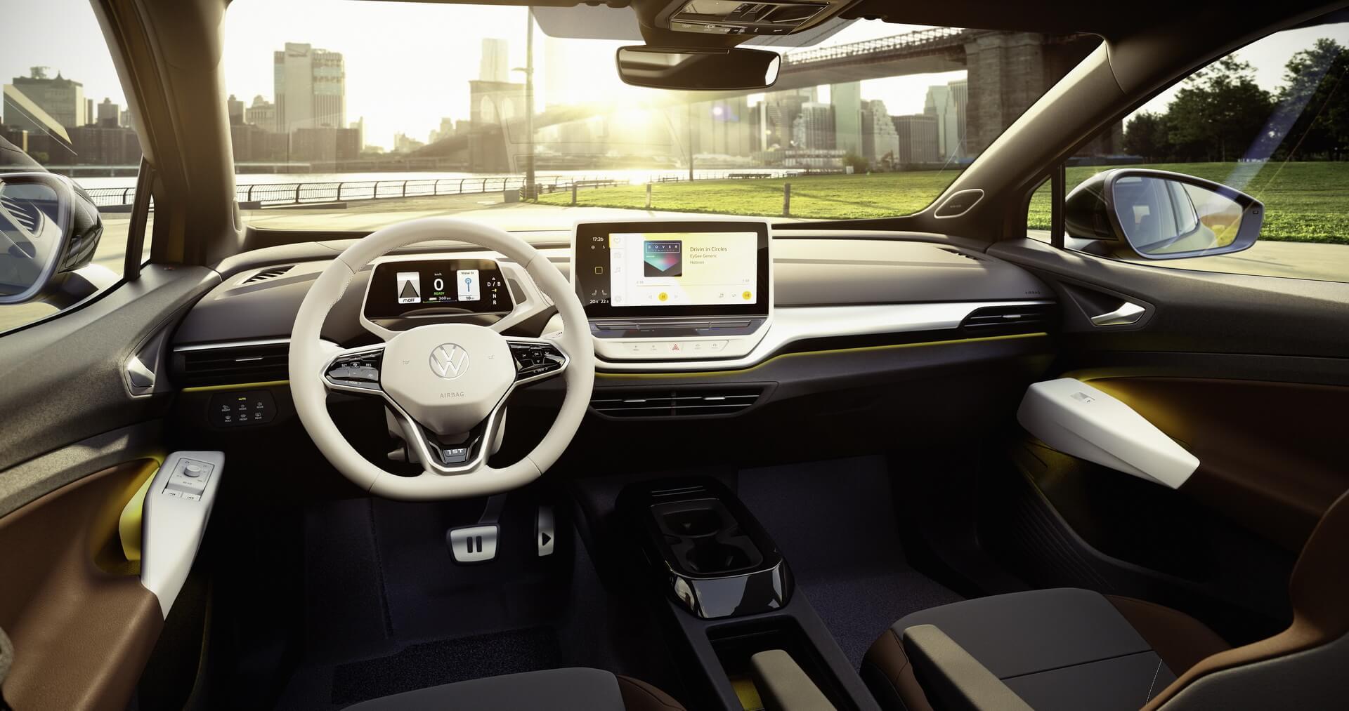 Интерьер электрокроссовера Volkswagen ID.4