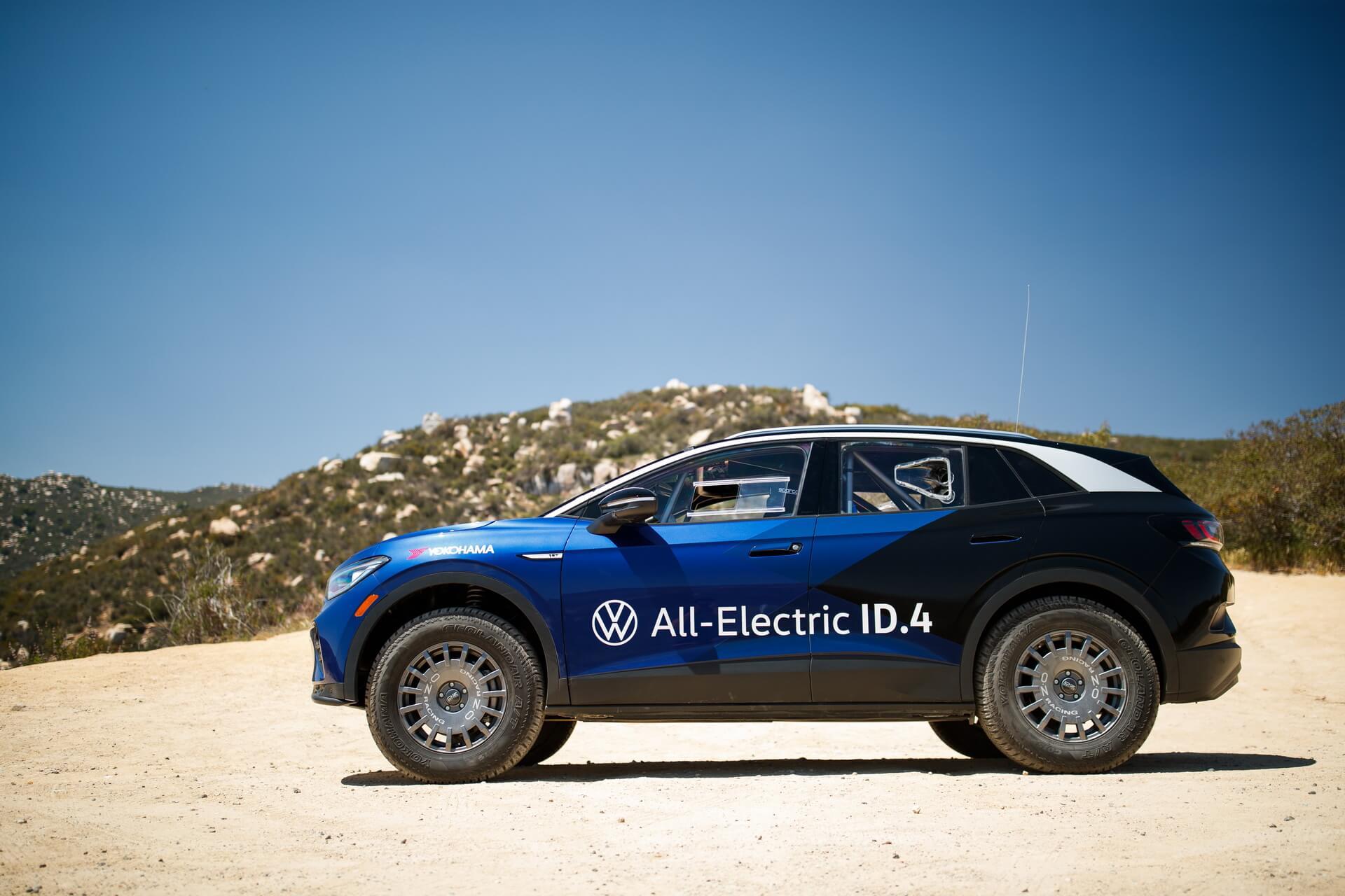 Volkswagen протестировал свой электрический кроссовер ID.4 на раллийной гонке Mexican 1000
