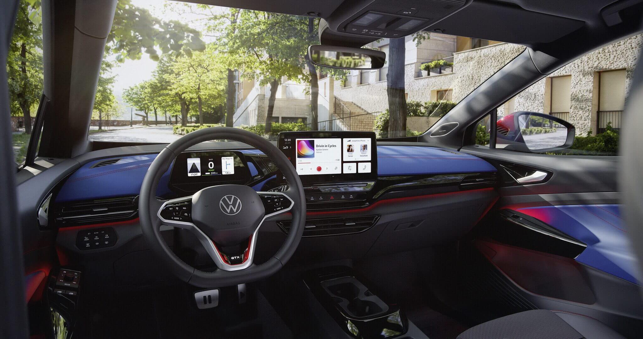 Спортивный интерьер Volkswagen ID.4 GTX
