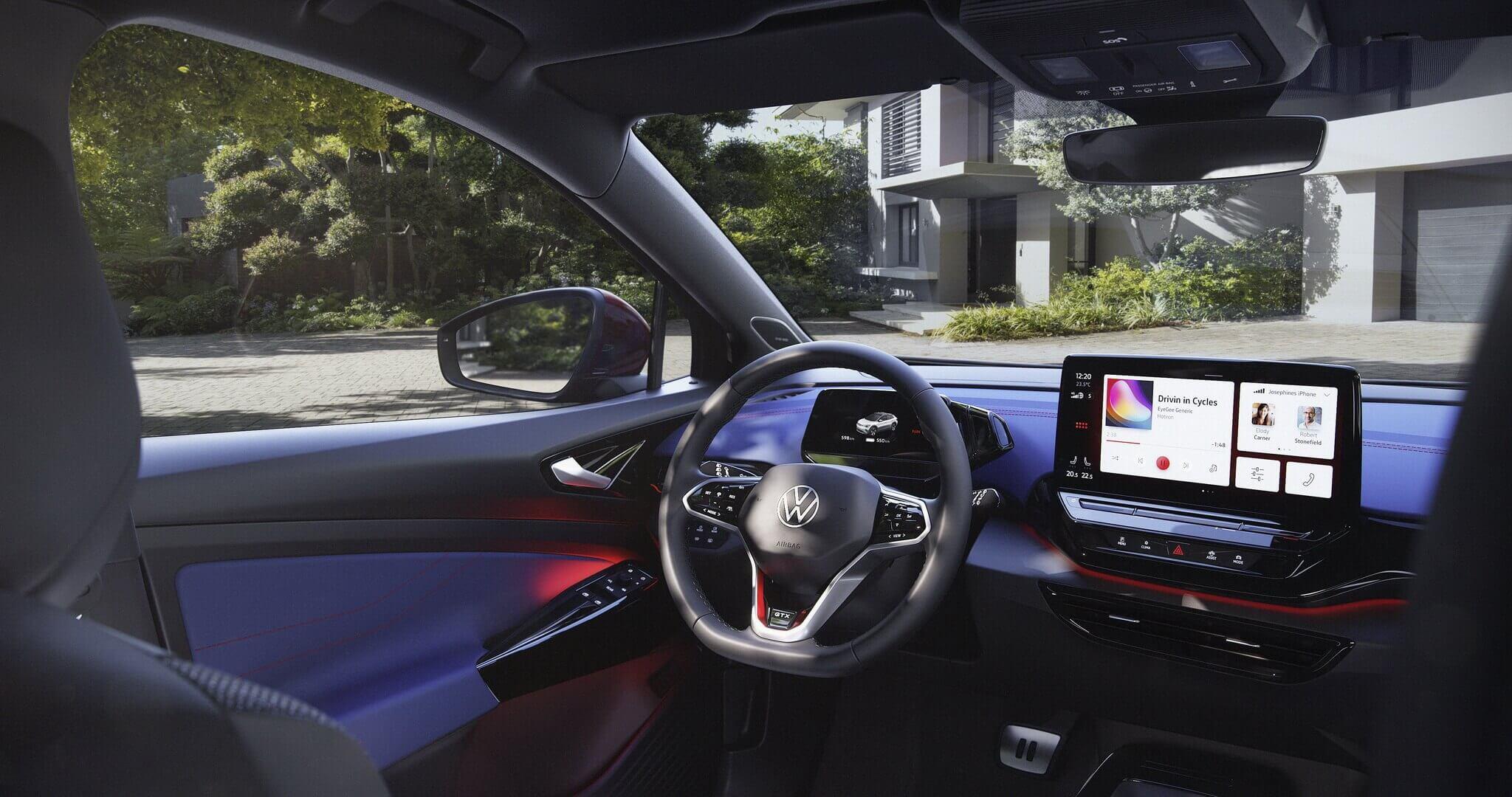 Салон электрокроссовера Volkswagen ID.4 GTX