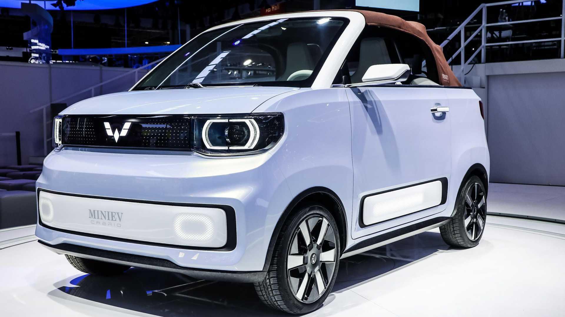 Самый популярный электрический миникар Китая получил версию Cabrio