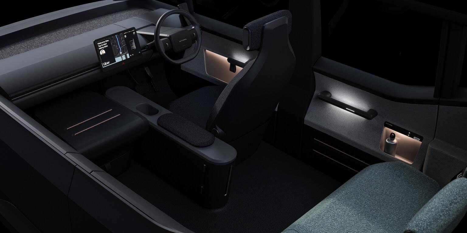 Рендер интерьера «идеального электромобиля» для такси