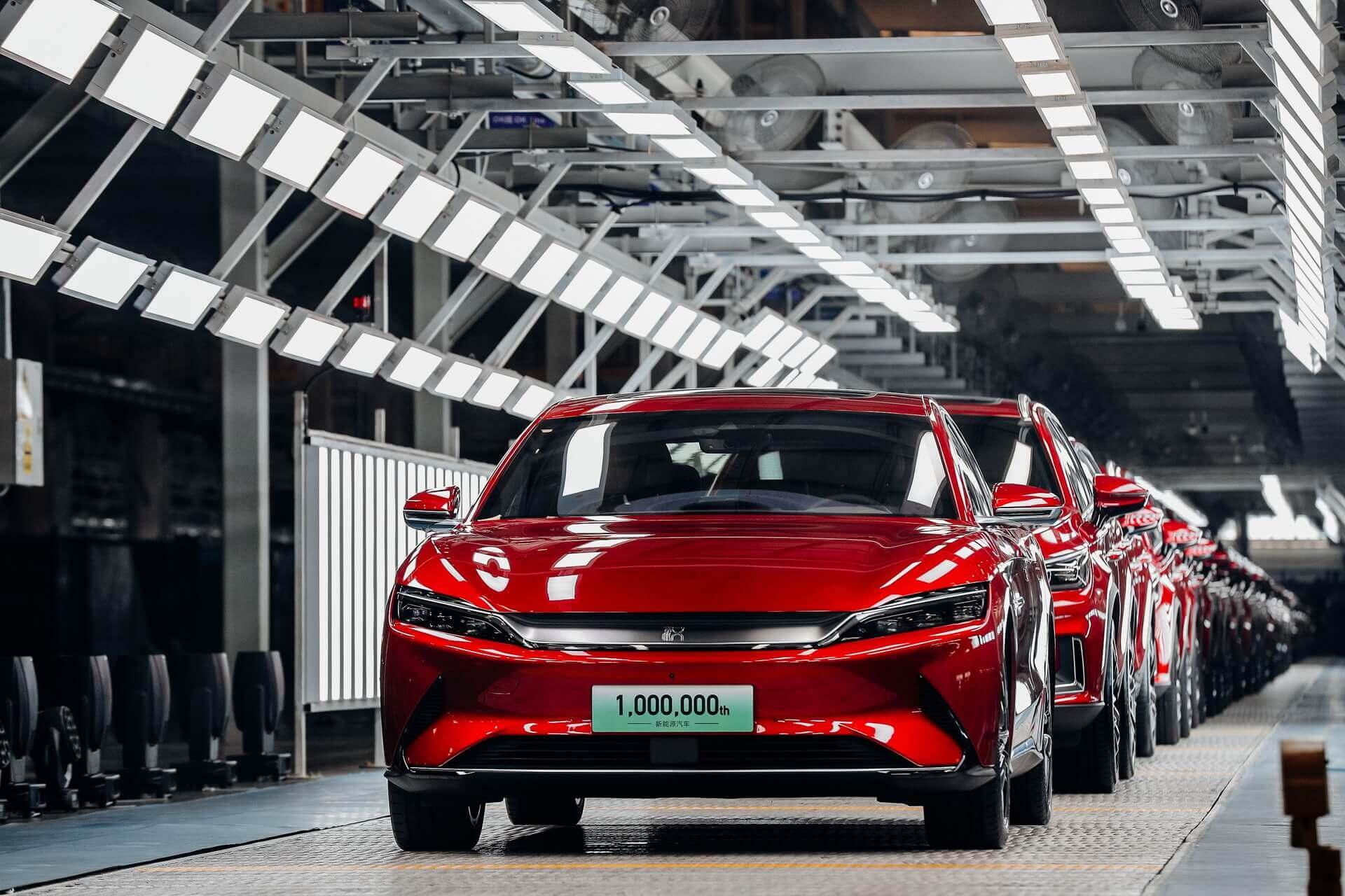 1000000-м электромобилем стал Han EV, который в настоящее время является самой продаваемой электрифицированной моделью BYD