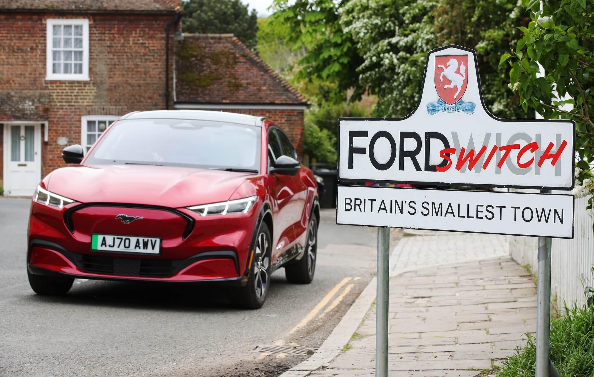 Ford стимулирует жителей самого маленького городка вВеликобритании перейти наэлектромобили