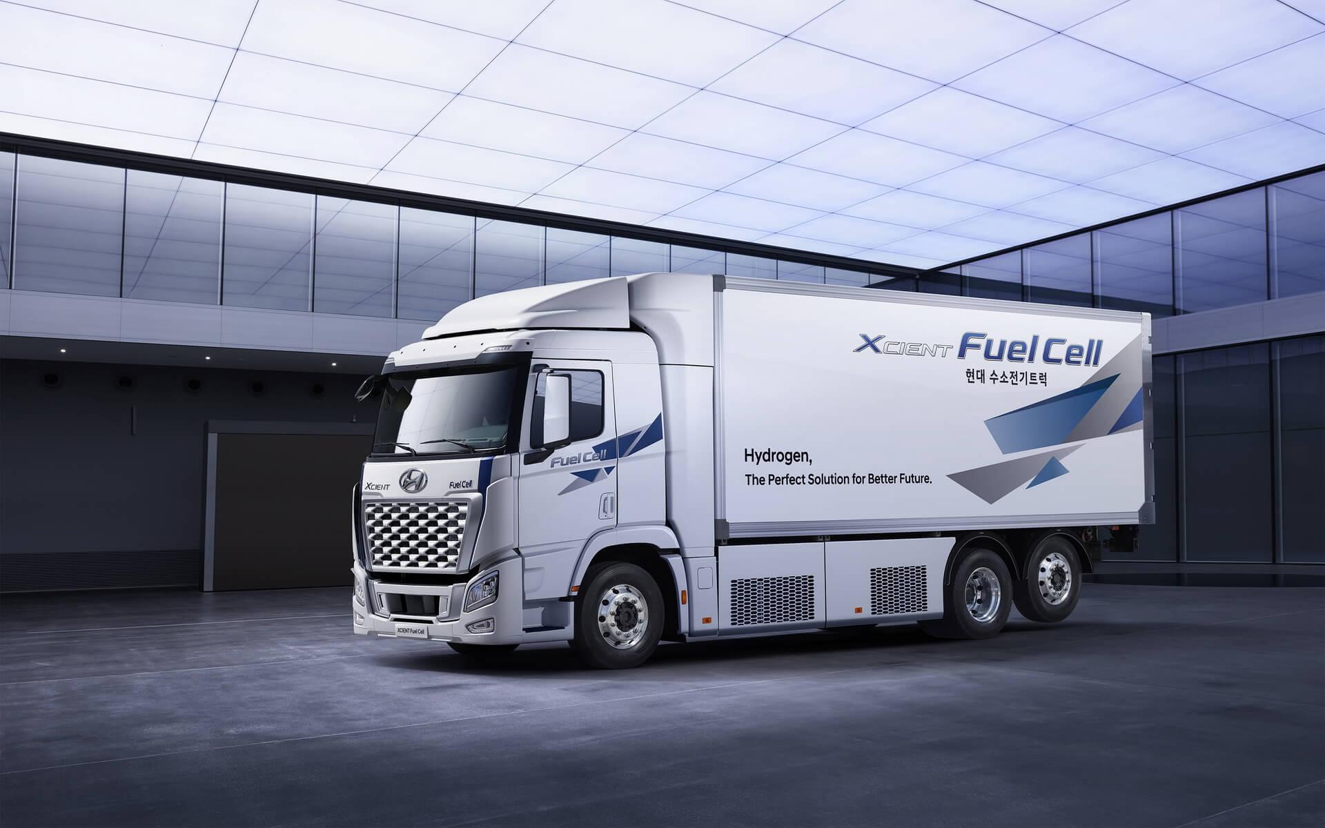 Тяжелый грузовик Hyundai XCIENT на топливных элементах