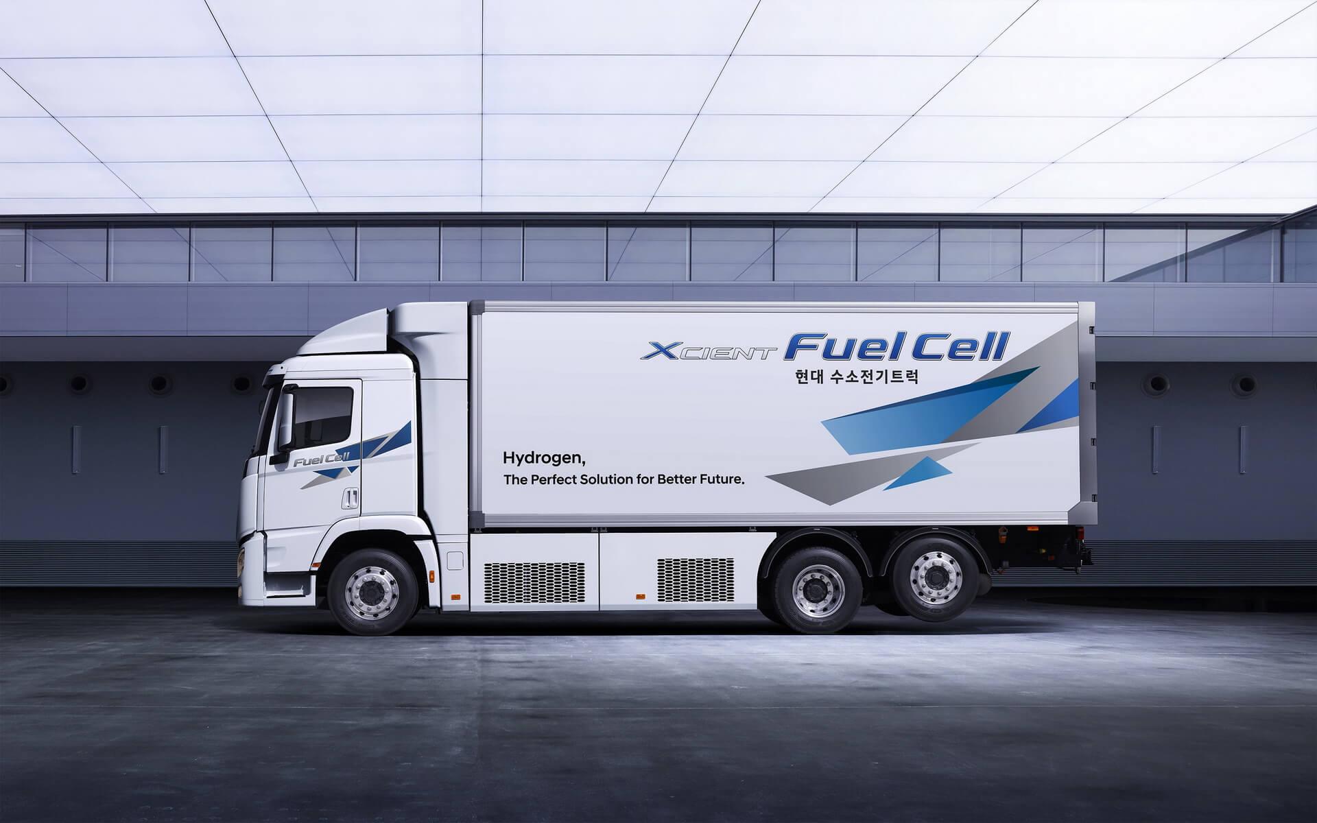 Hyundai представил обновленный тяжелый грузовик на топливных элементах XCIENT Fuel Cell