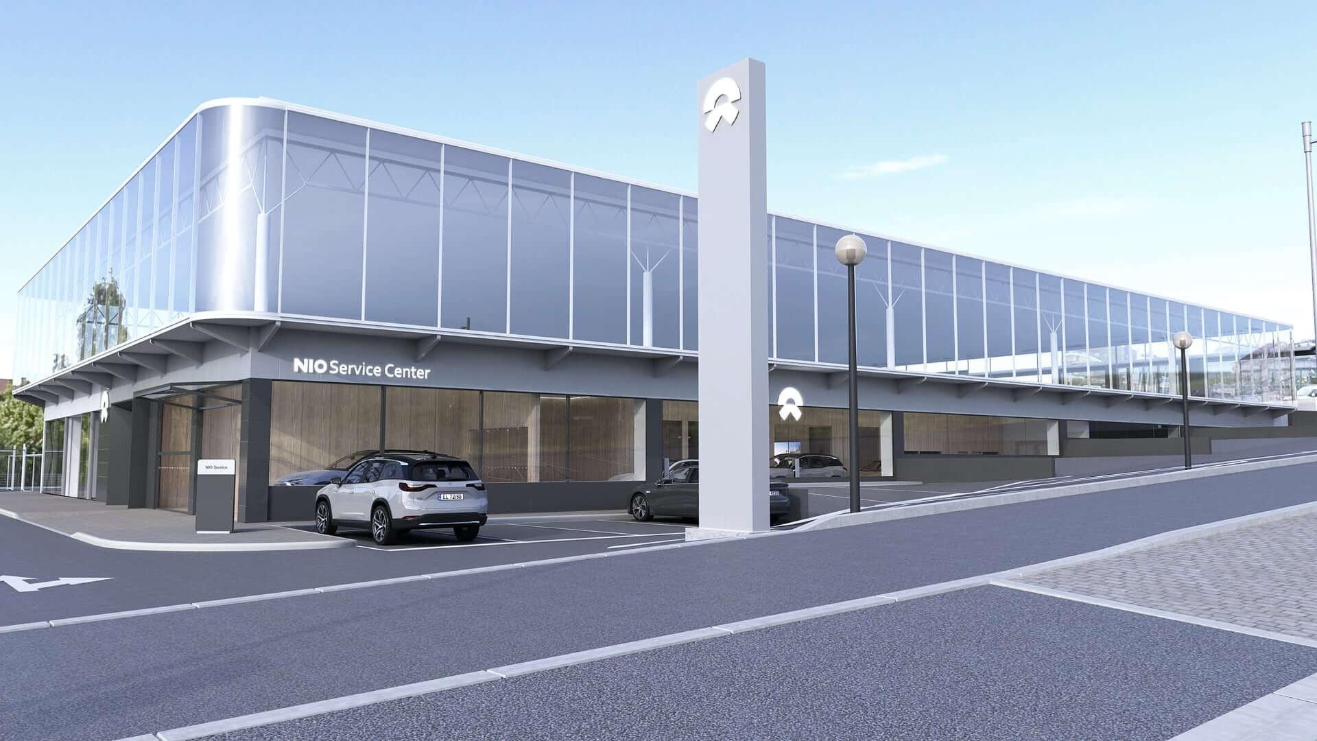Первый центр обслуживания идоставки NIO вОсло