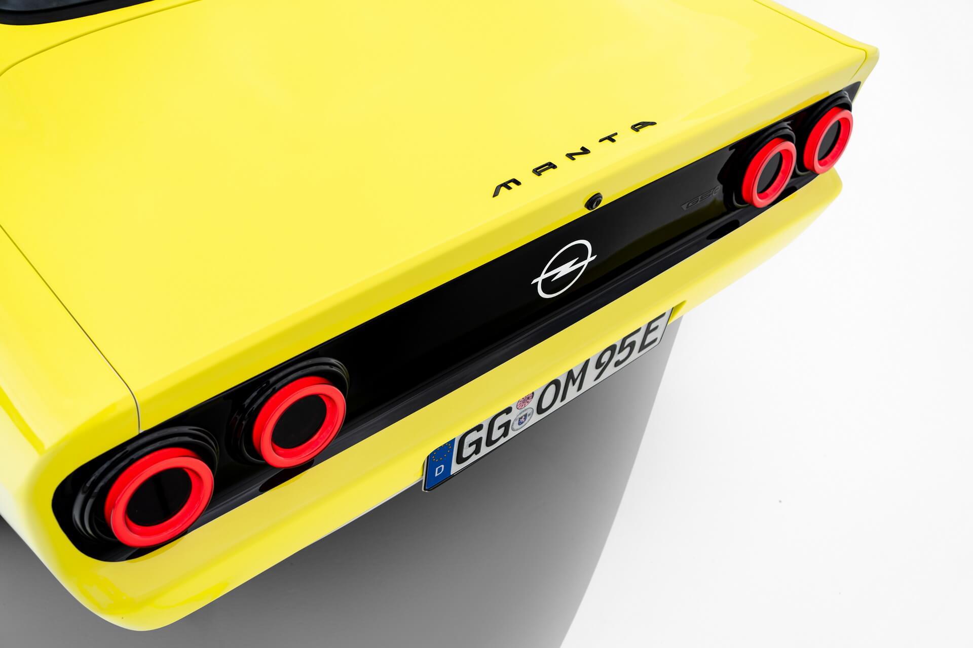 Opel представил электрический рестомод Manta GSe ссовременными технологиями