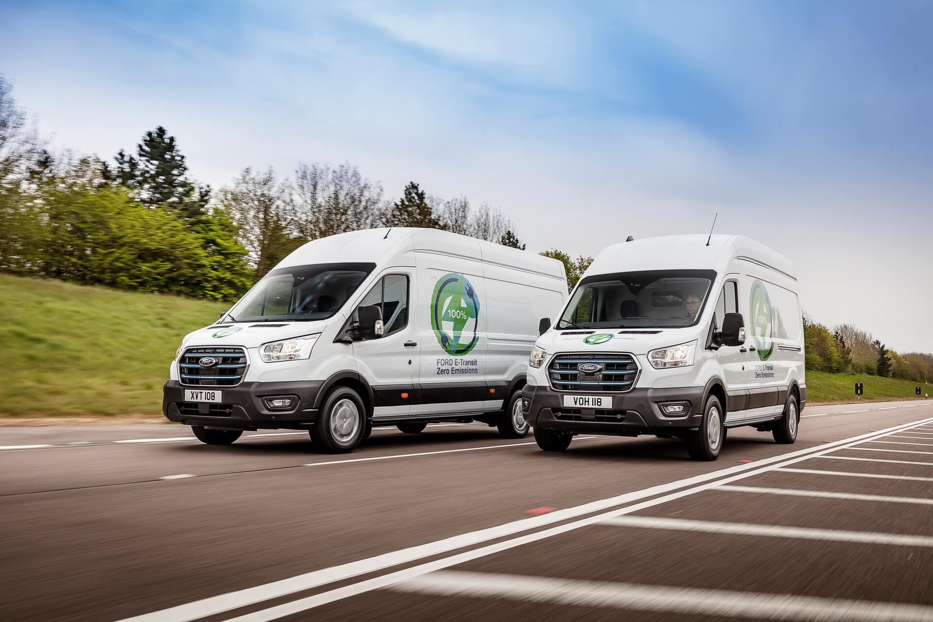 Ford начнет испытания электрического фургона E-Transit в Европе