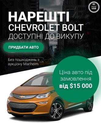 Выбор электромобиля в США. Доставка в Украину!