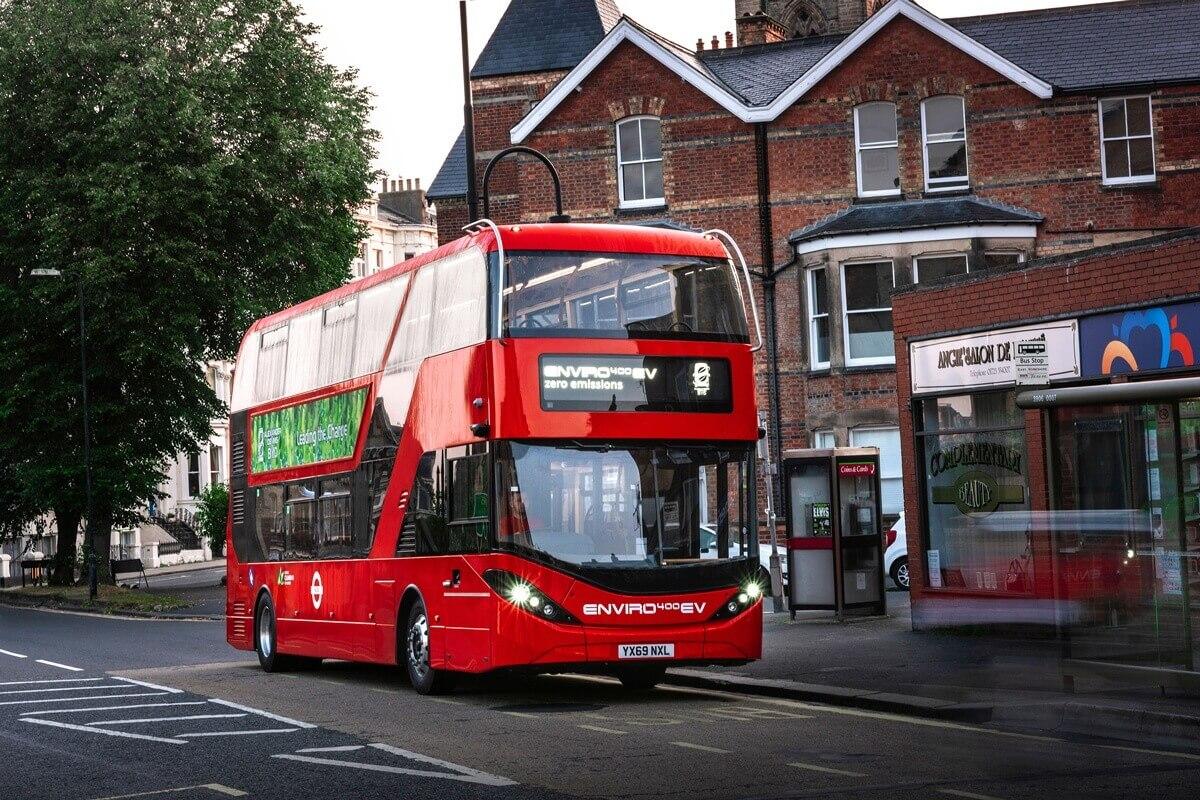 Двухэтажный электрический автобус BYD ADL Enviro400EV