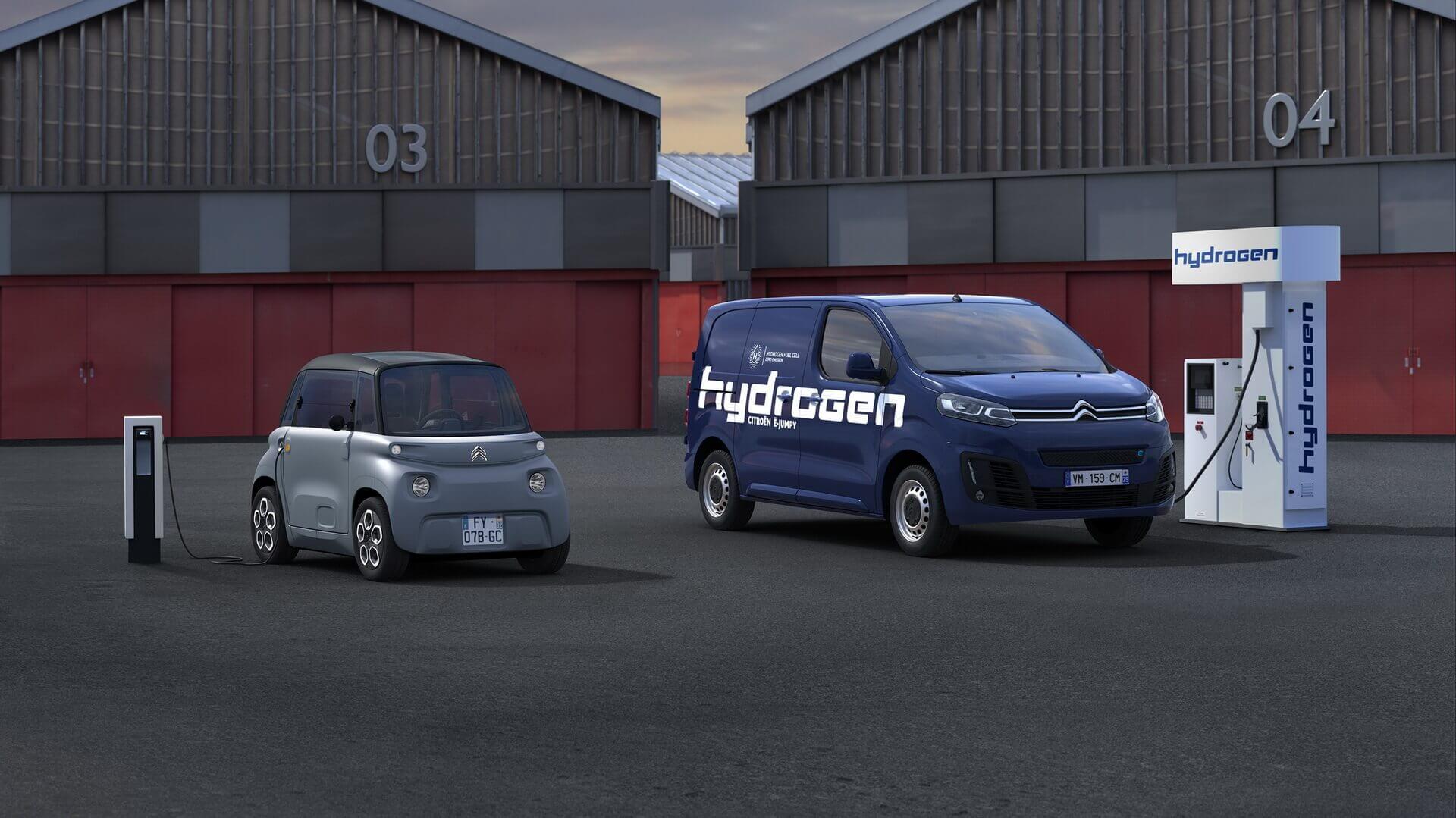 Электрический Citroën AMI и водородный ë-Jumpy Hydrogen