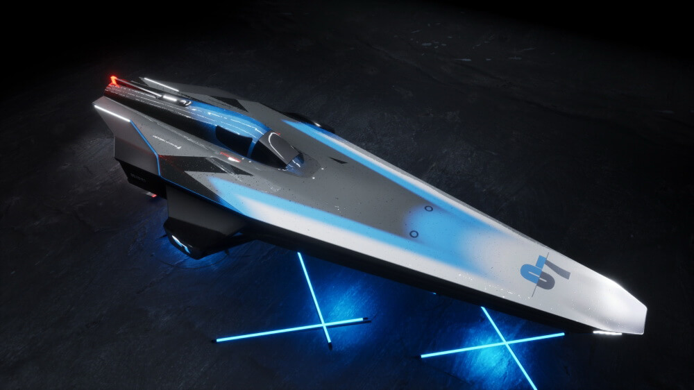 Как корабль из«Звездных войн»: представлен концепт электрического катера новой гоночной серии E1