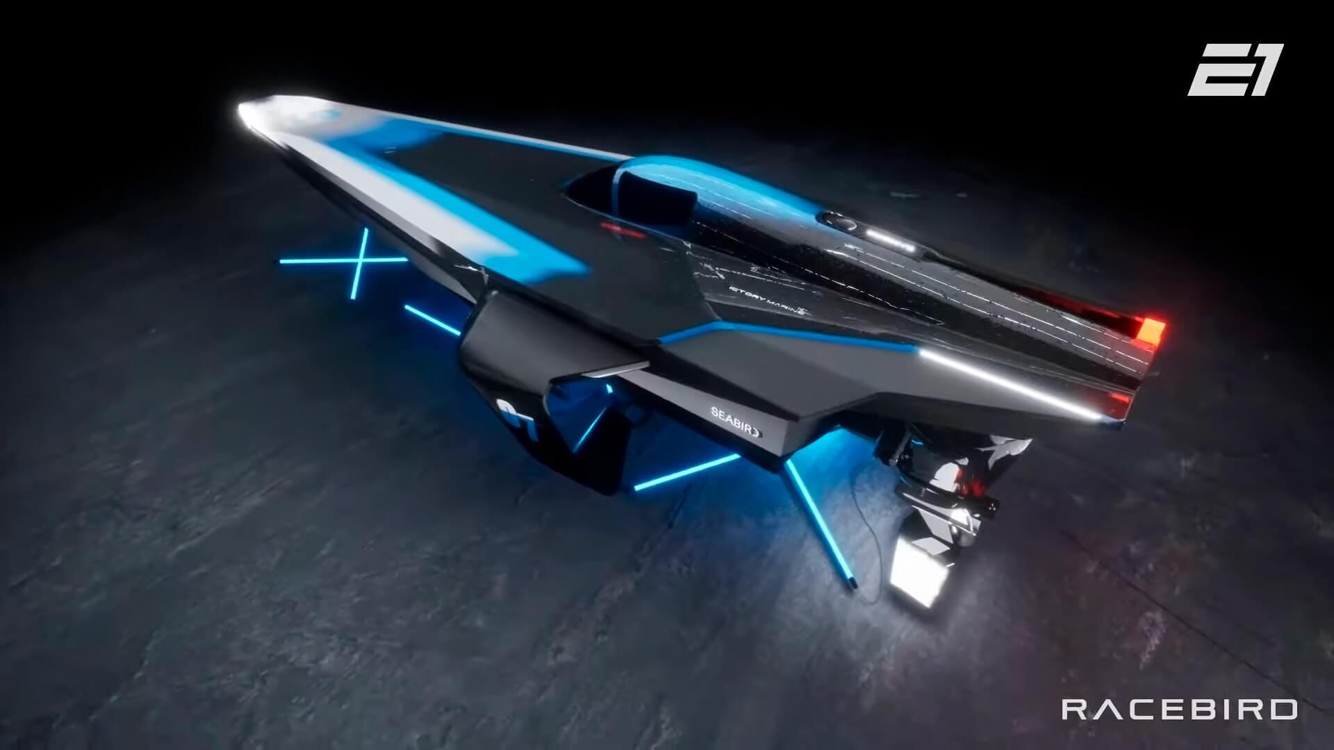 Футуристические электрические скоростные катера наподводных крыльях встретятся всерии E1