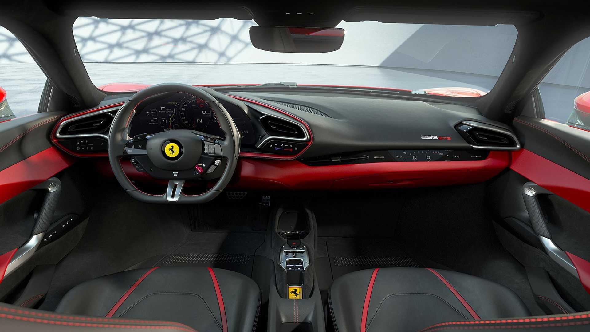 Интерьер гибридного спорткара Ferrari 296 GTB