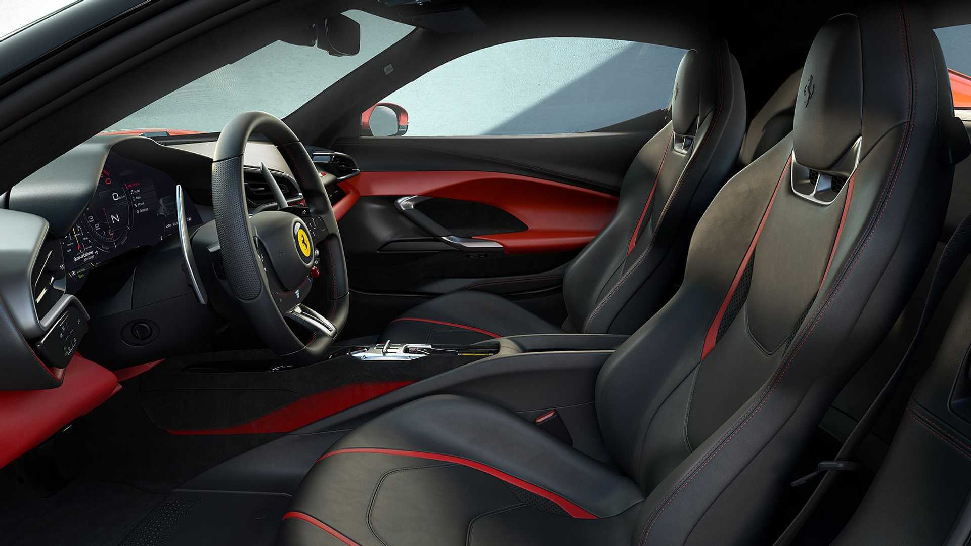 Двухместный спортивный автомобиль Ferrari сгибридной силовой установкой