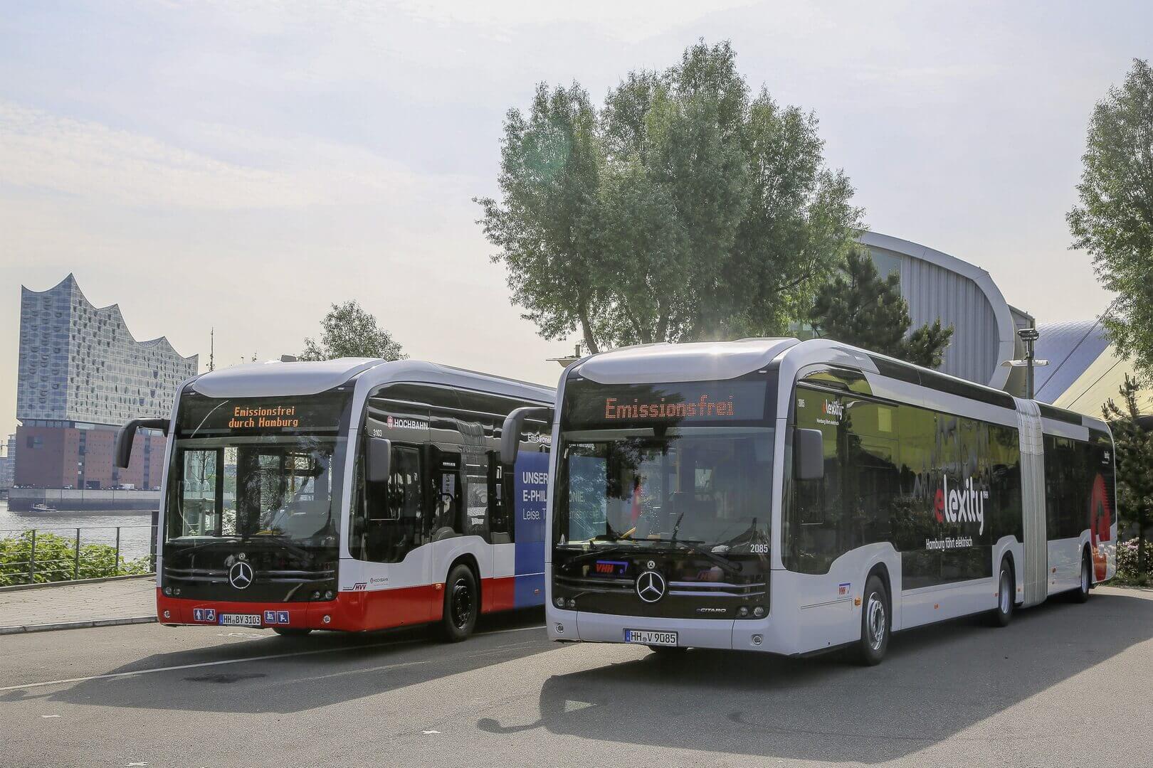 Электрические сочлененные автобусы Mercedes-Benz eCitaro G с твердотельными батареями