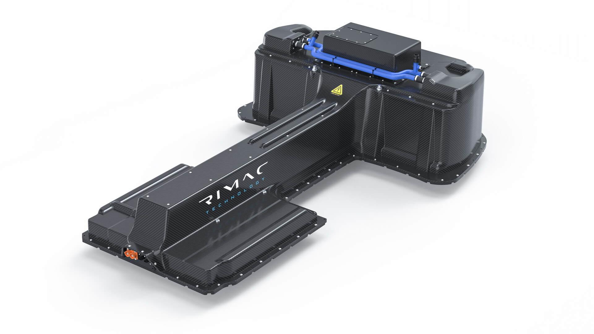 H-образная батарея Rimac Nevera с жидкостным охлаждением емкостью 120 кВт⋅ч