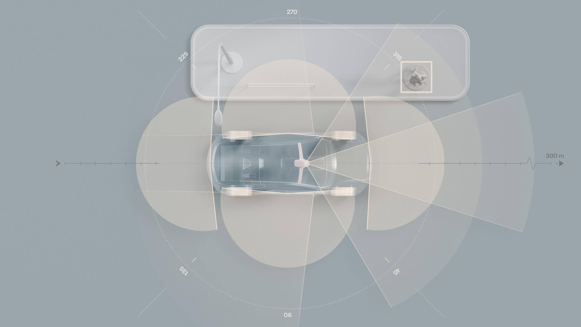 Камеры на электрическом преемнике Volvo XC90
