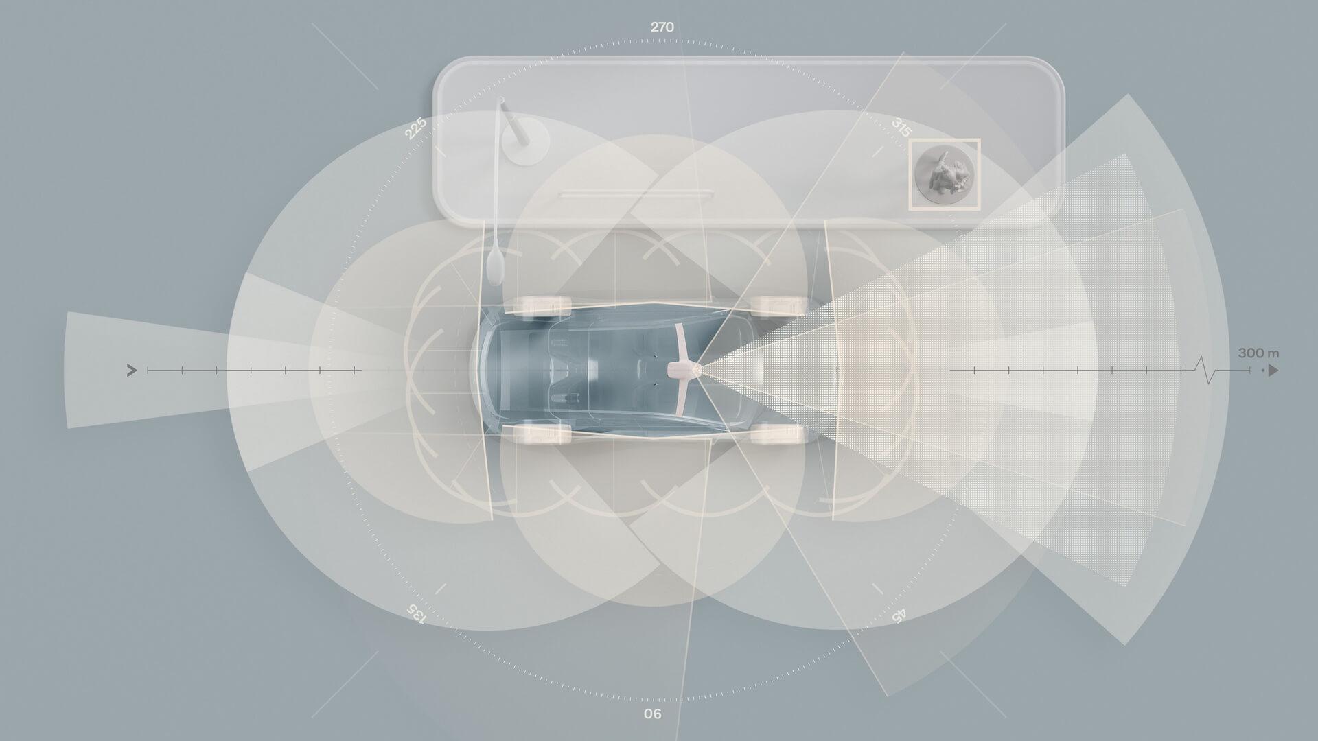 Полностью электрический Volvo XC90 в стандартной комплектации будет оснащен технологией LiDAR и суперкомпьютером с искусственным интеллектом