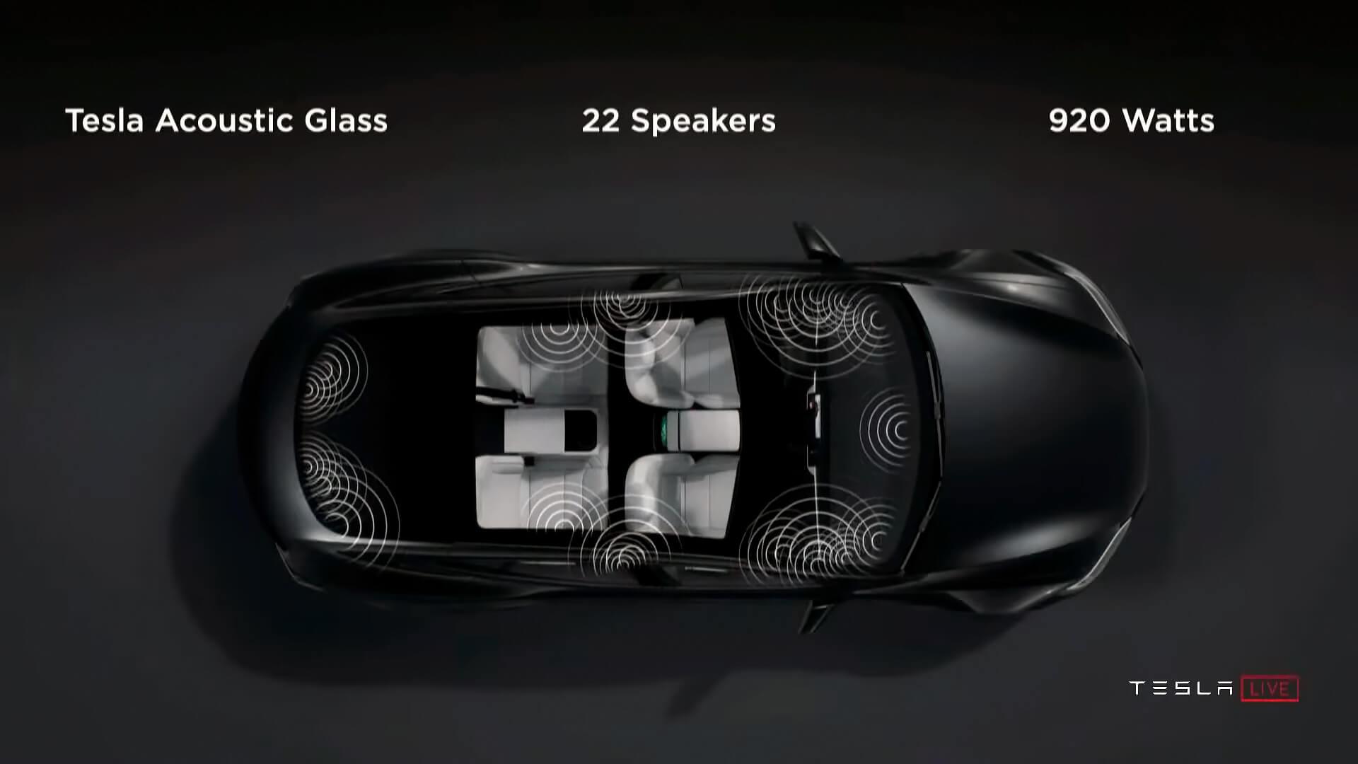 Новая звуковая система собственной разработки в Tesla Model SPlaid