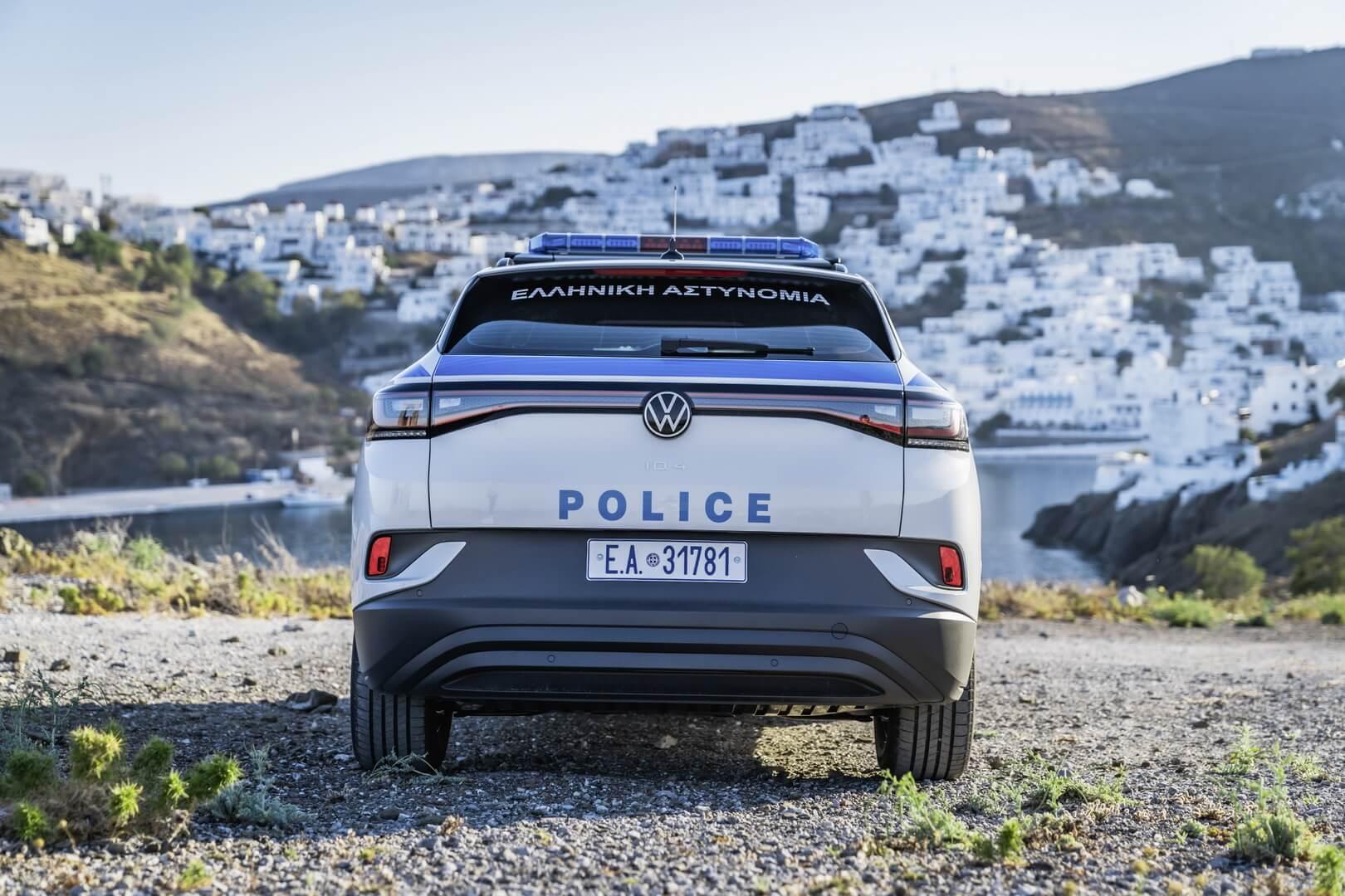 Volkswagen ID.4 — первый электрический полицейский автомобиль в Греции