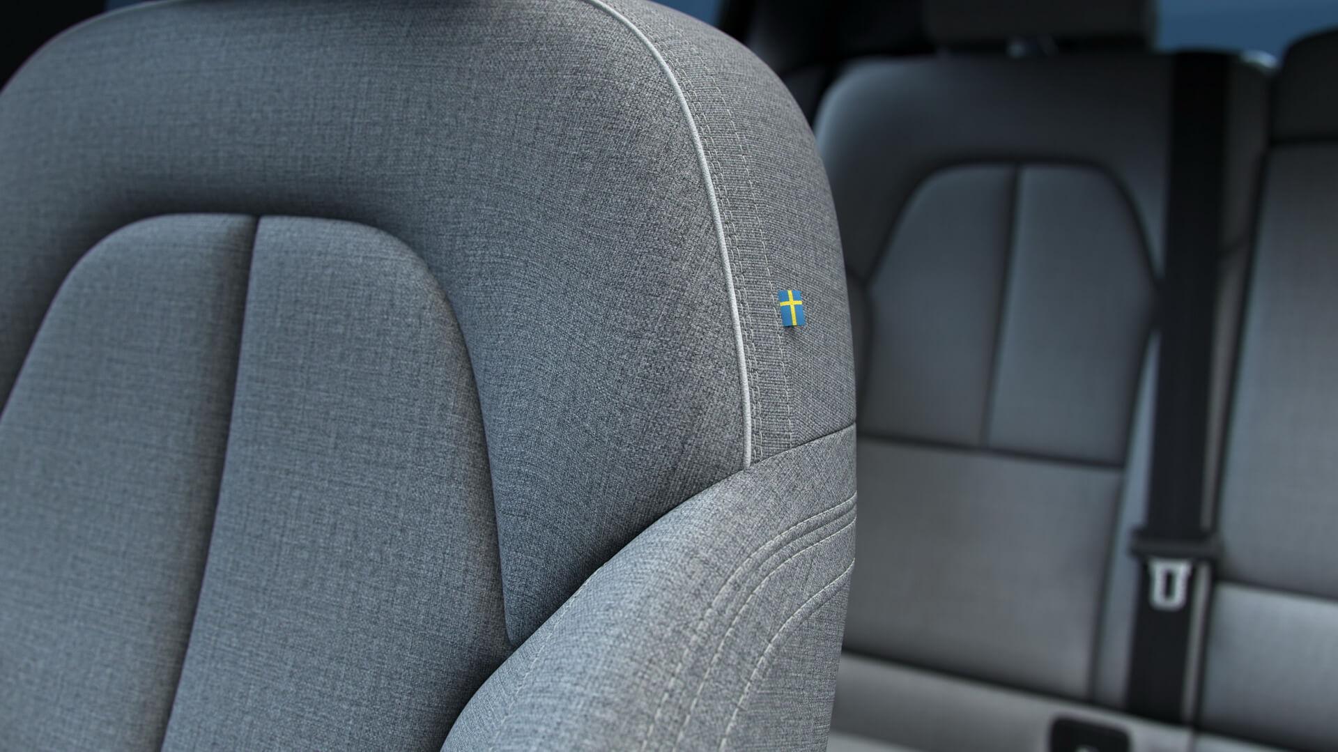 Шерстяная текстильная обивка салона Volvo C40 Recharge