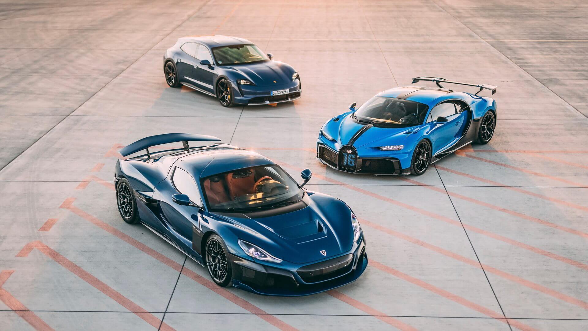 Rimac объединяется с Bugatti для производства гиперкаров