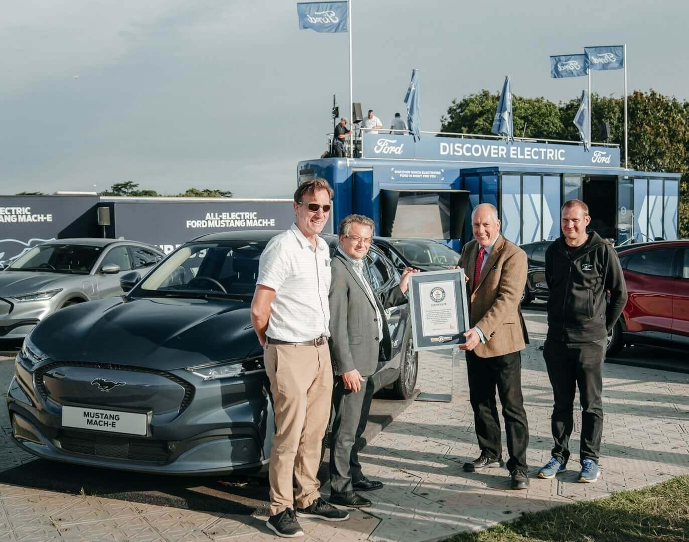 Электрический Ford Mustang Mach-E попал вКнигу рекордов Гиннесса