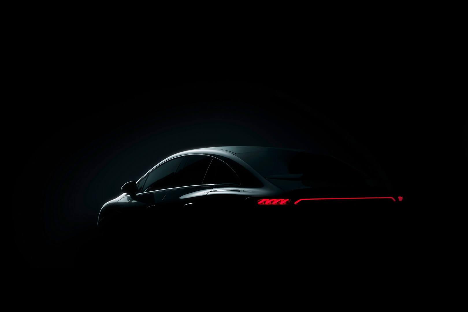 Тизер Mercedes-Benz EQE