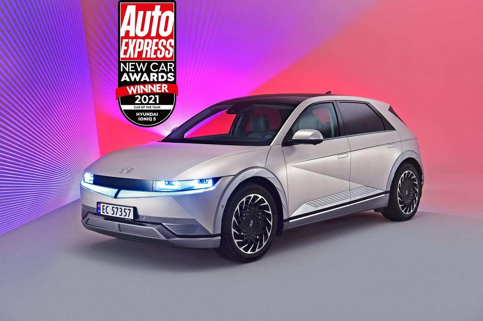 Hyundai IONIQ 5 получил награду «Автомобиль года 2021» в престижной премии Auto Express New Car Awards
