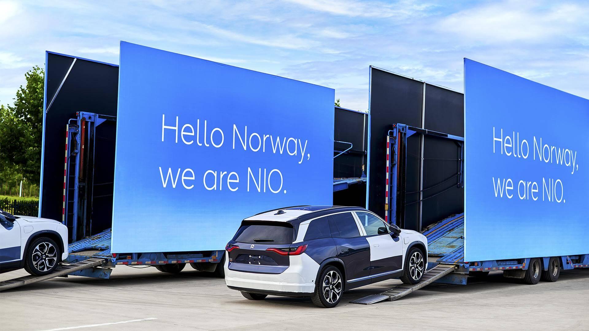 NIO отправила первую партию ES8в Норвегию