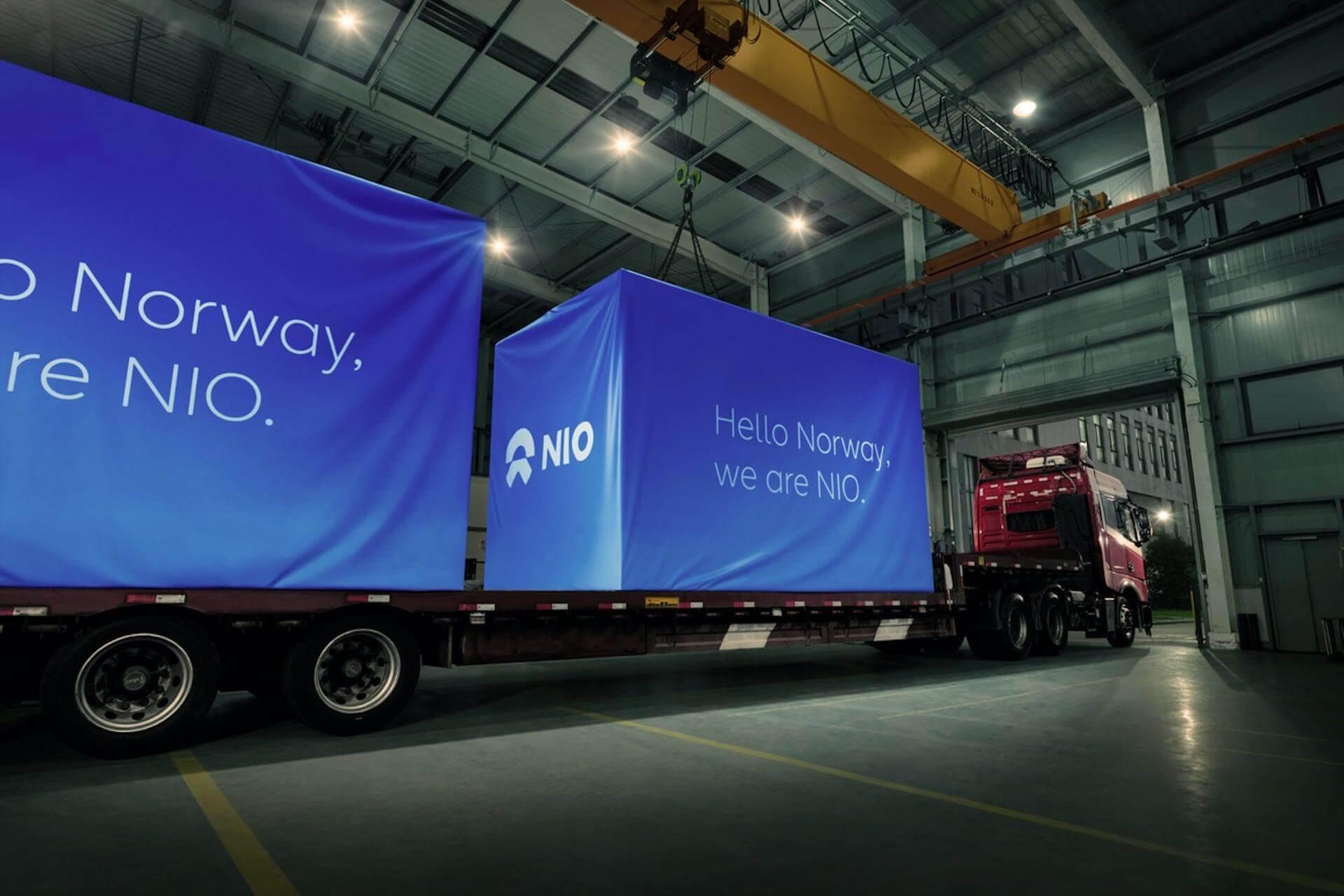 Первые партии станций Power Swap и зарядных устройств NIO уже отправились в Норвегию