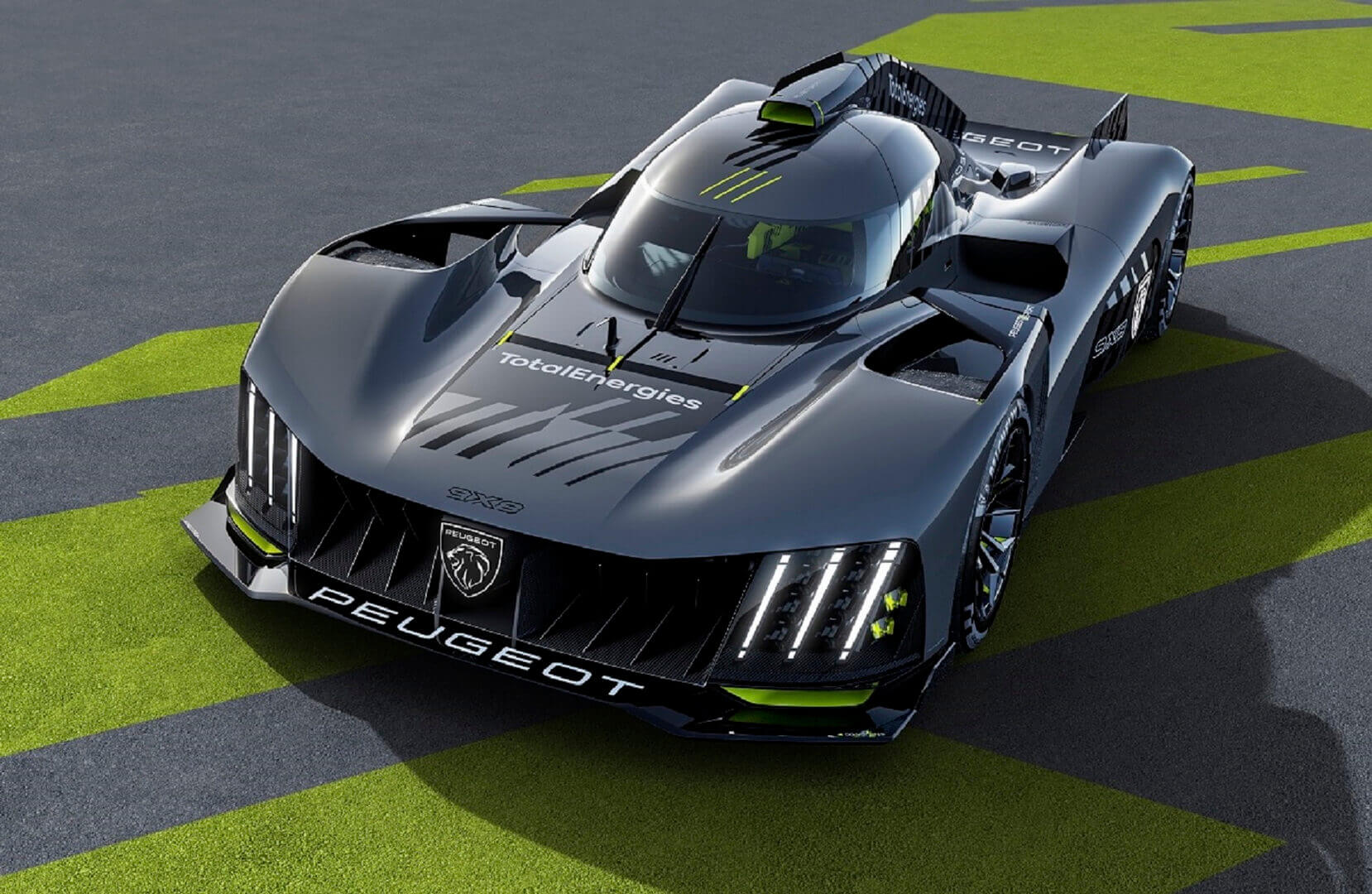 Peugeot анонсировал полноприводный гибрид 9X8, у которого нет заднего антикрыла