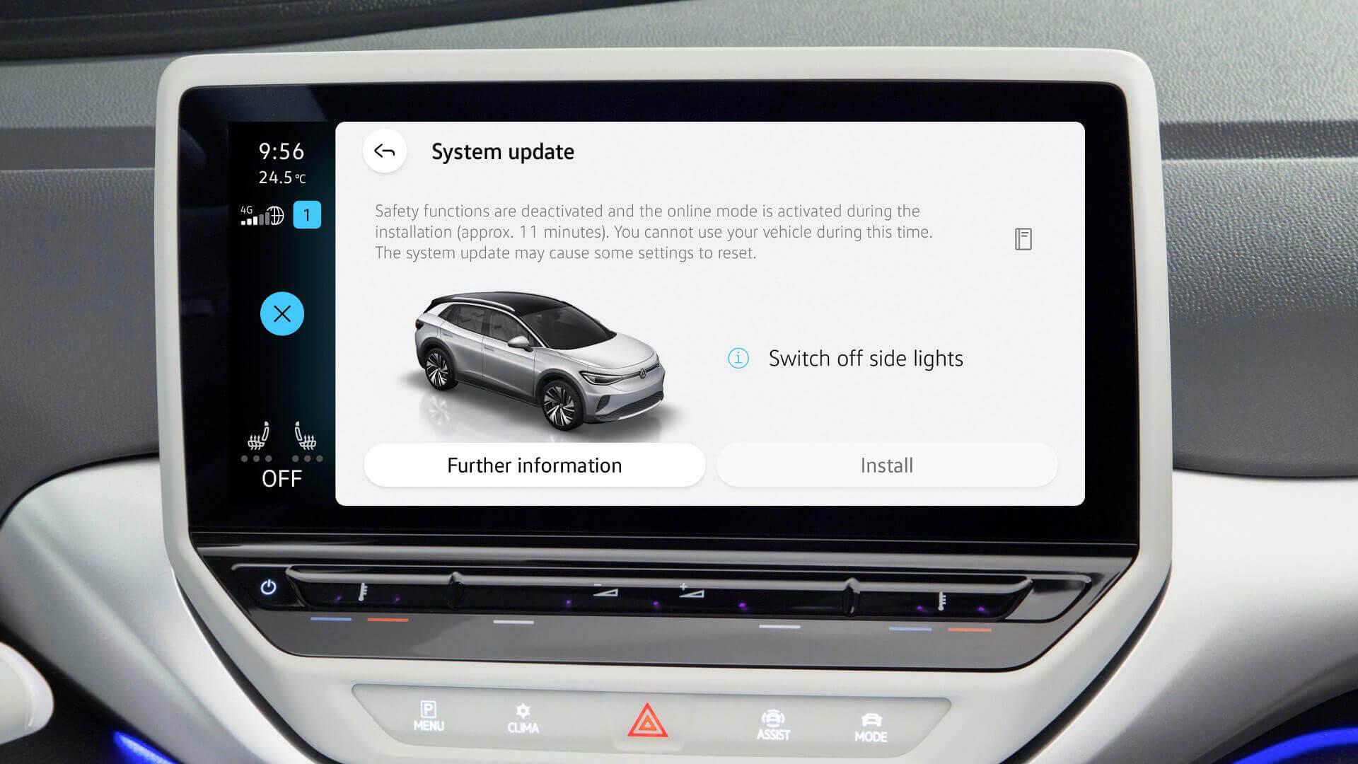 Volkswagen запускает беспроводные обновления для семейства электромобилей ID.