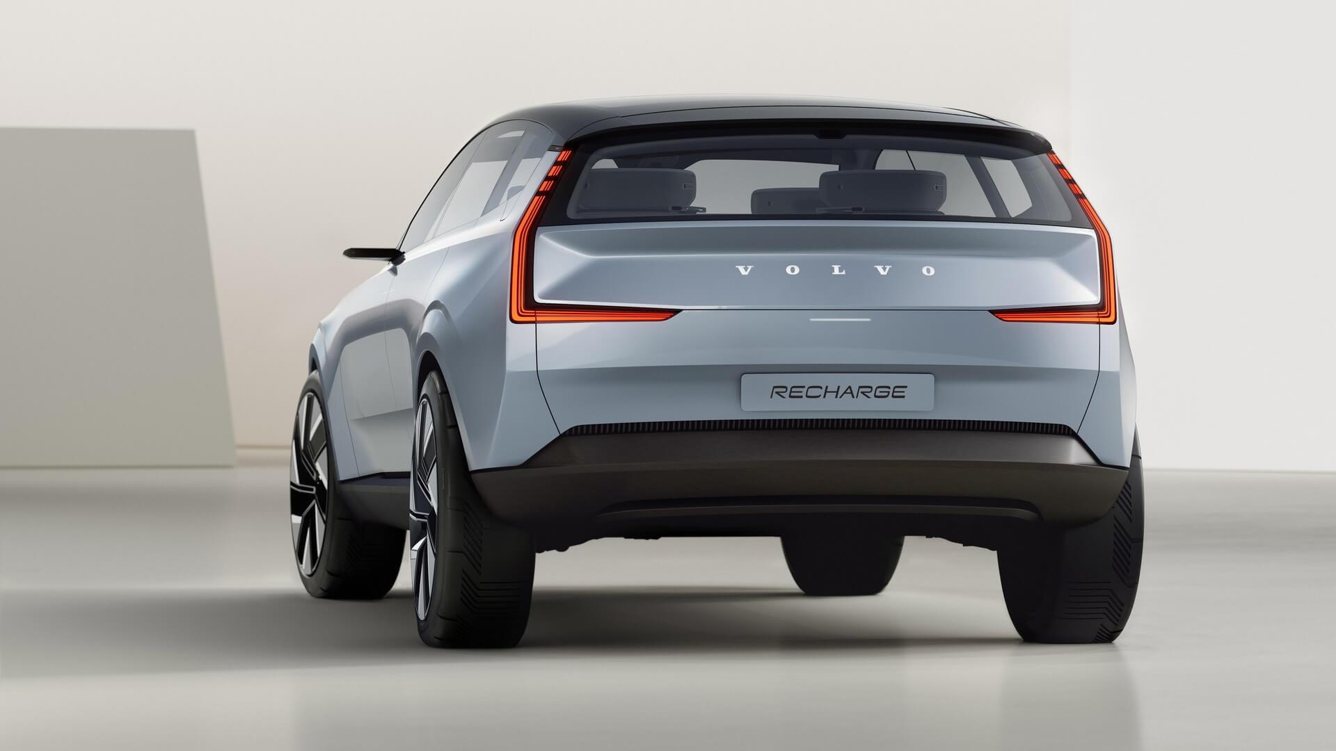Volvo представляет свое полностью электрическое будущее спомощью электромобиля Concept Recharge