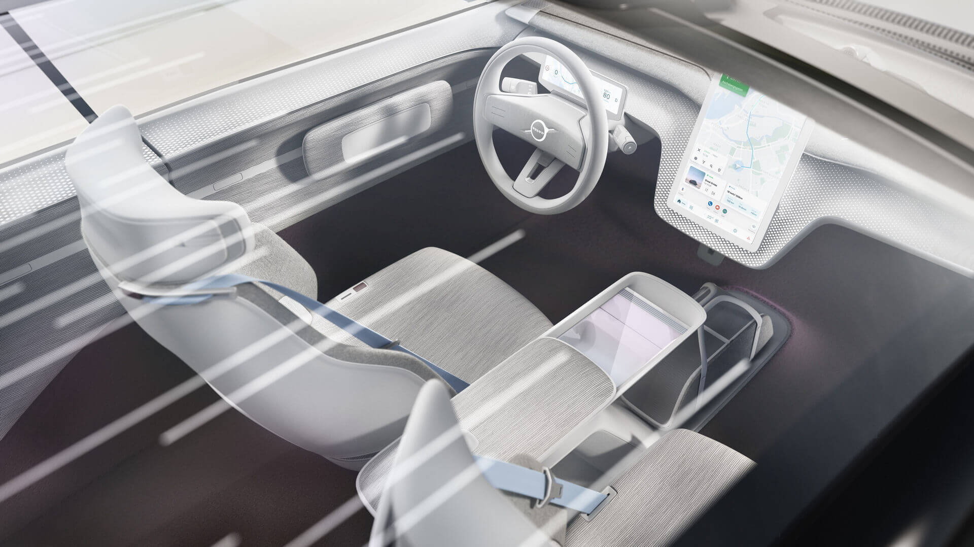 Дизайн интерьера Volvo Concept Recharge