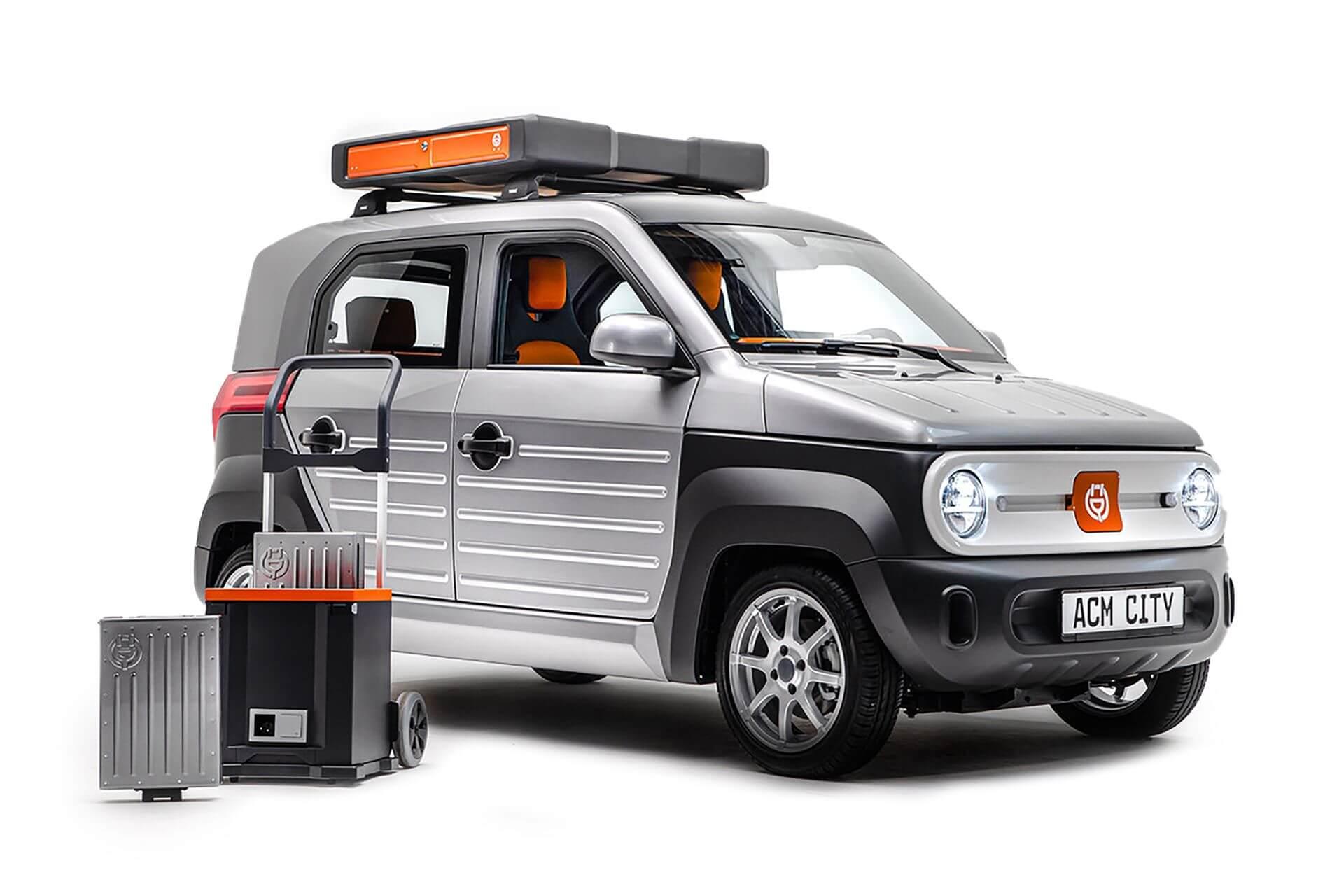 ACM City One — городской электромобиль со сменными батареями