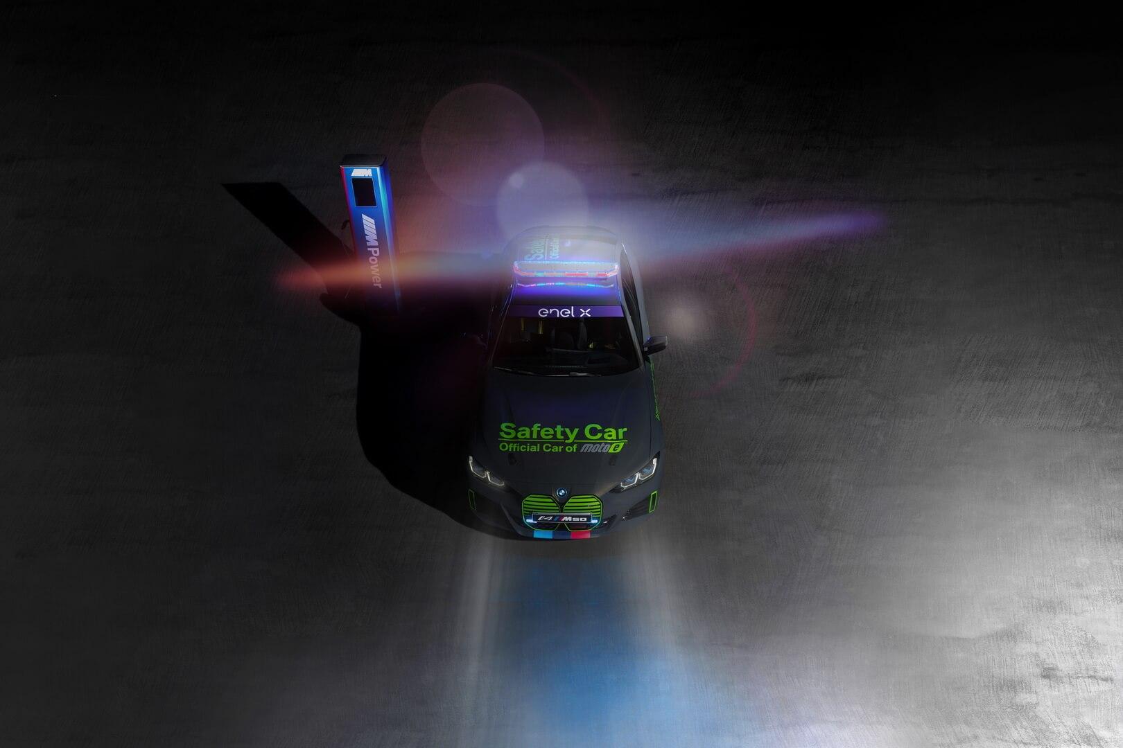 Автомобиль безопасности BMW i4 M50 представлен для чемпионата мира MotoE