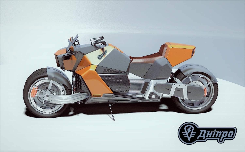 Фанатский дизайн будущего электромотоцикла «Днепр»