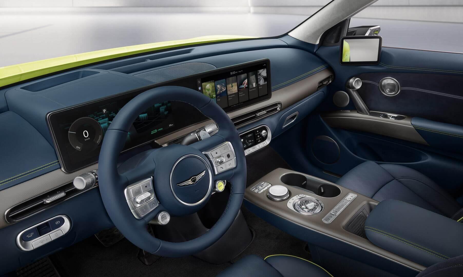 GV60— первая модель Genesis, вкоторой применяется информационно-развлекательная система нового поколения ccIC