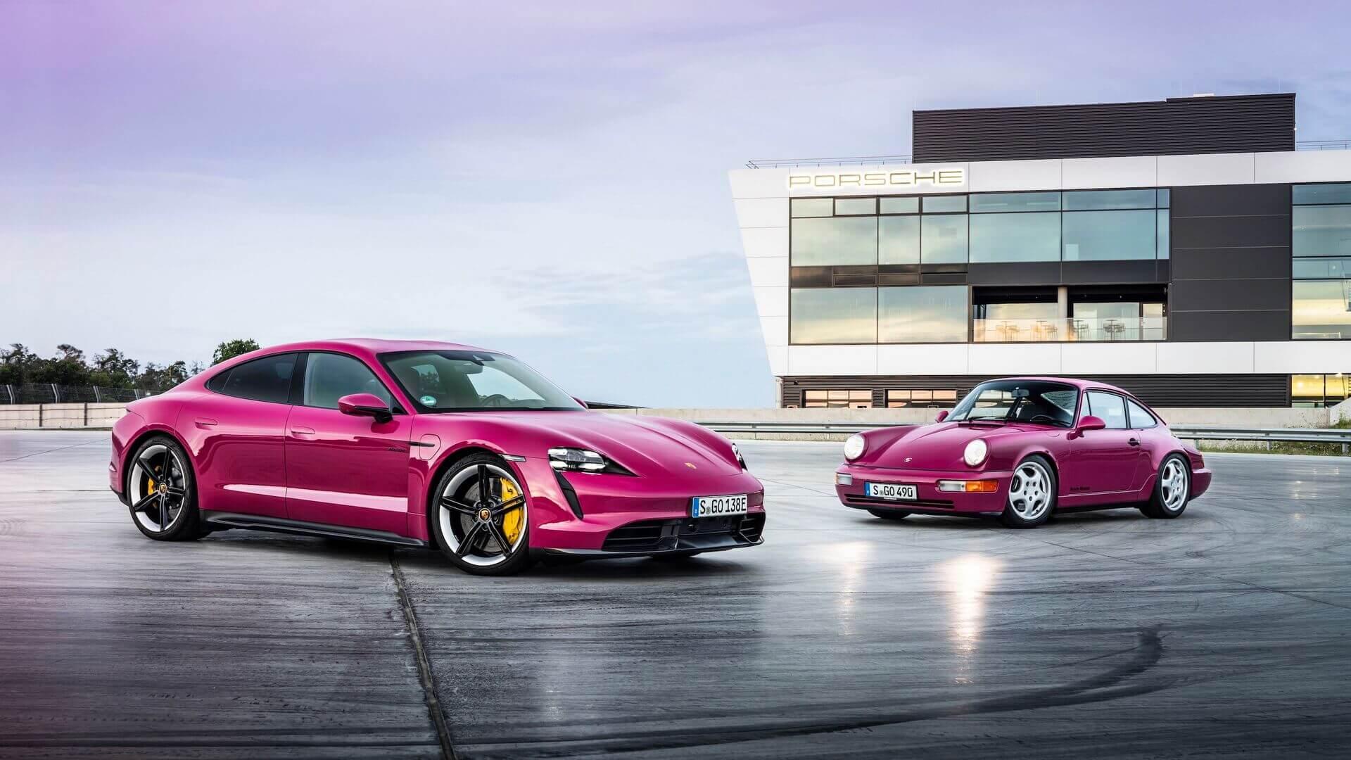 В Porsche обновили электромобили Taycan и Taycan Cross Turismo