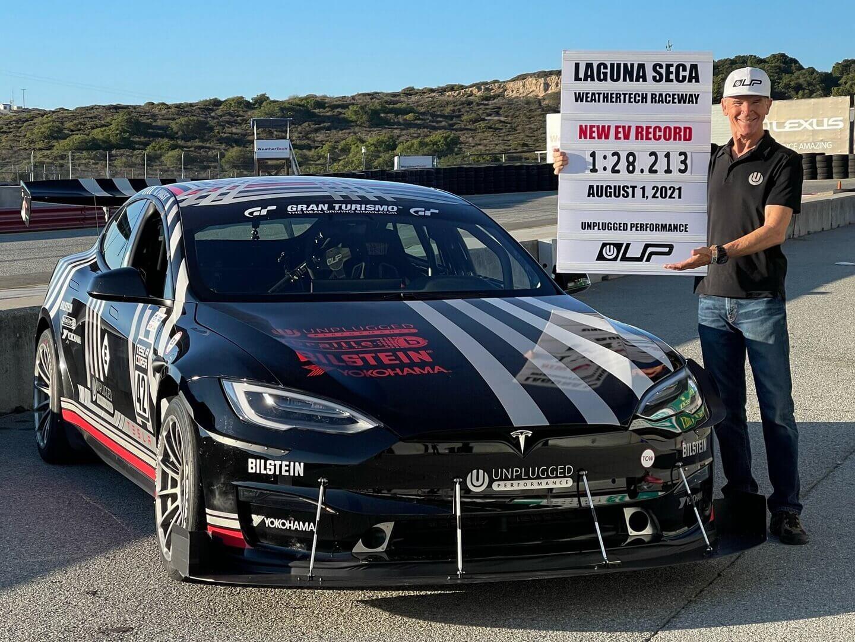 Tesla Model SPlaid UPустановила новый рекорд для электромобилей наLaguna Seca