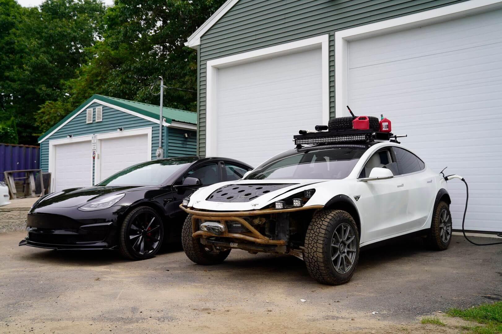 Разбитая Tesla Model 3 получила новую жизнь в качестве внедорожника
