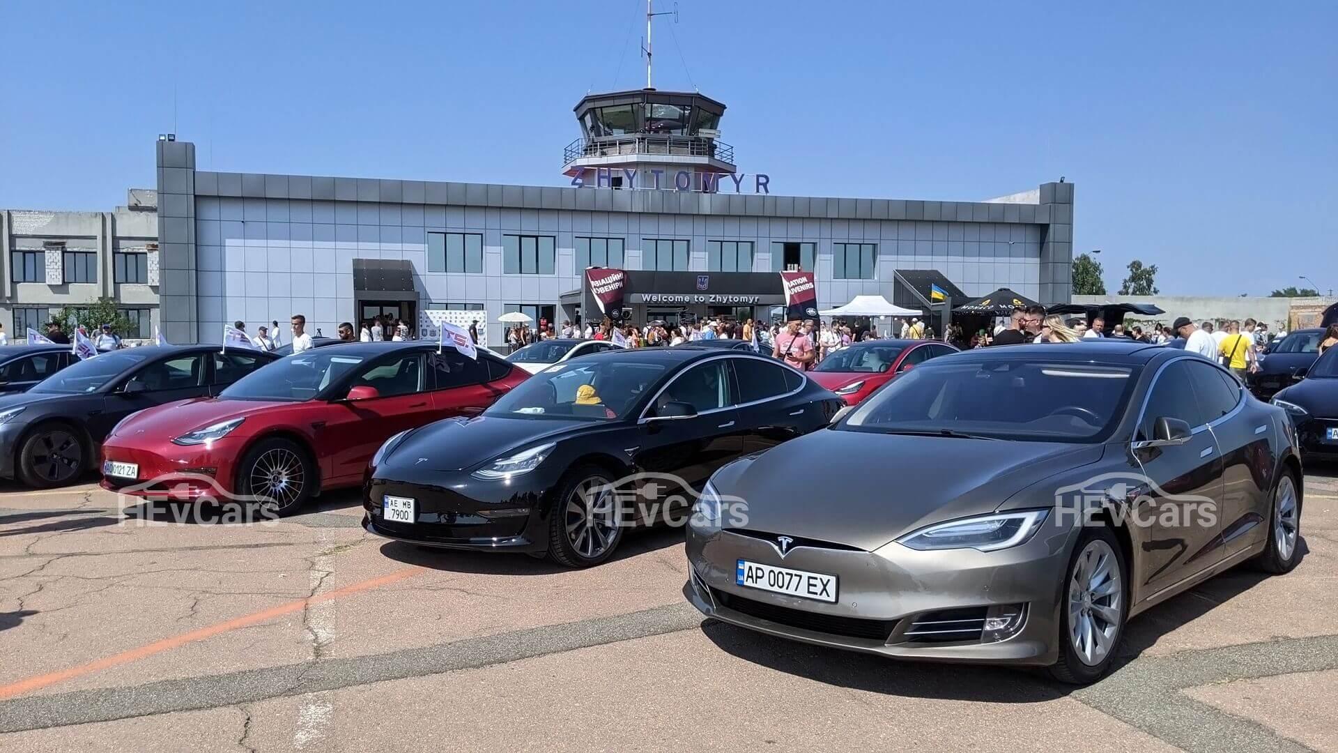 В Житомире состоялся фестиваль для владельцев электромобилей Tesla
