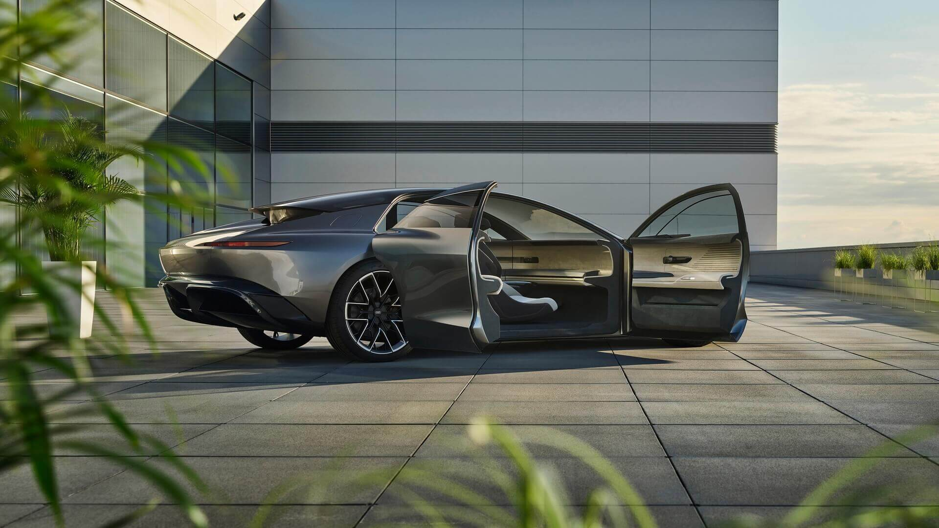 Концепт автономного электрического седана Audi Grandsphere
