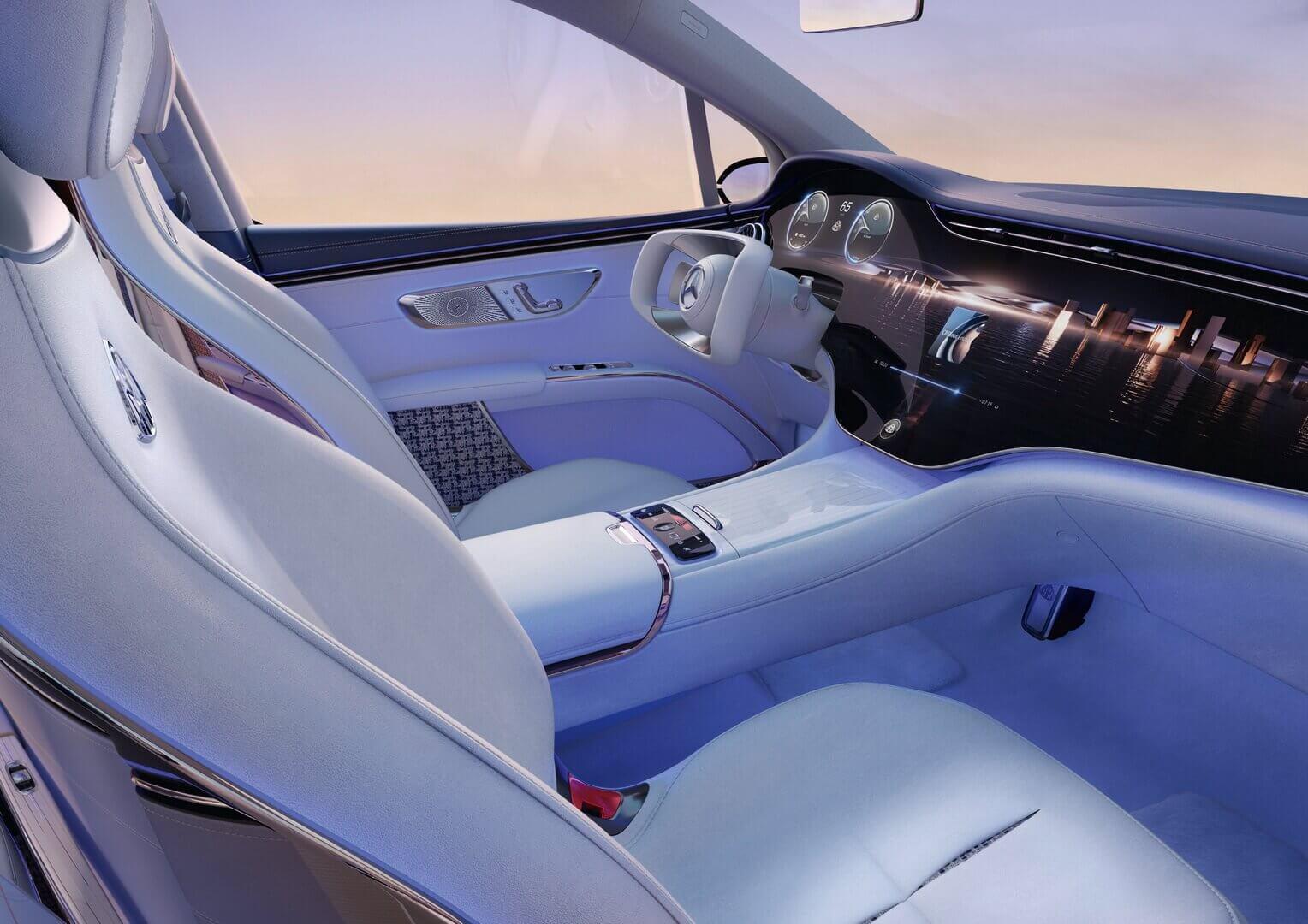 Роскошный интерьер Concept Mercedes-Maybach EQS